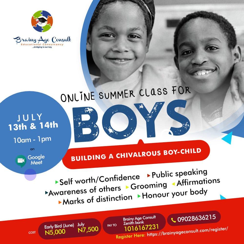 Online Summer Class for Boys