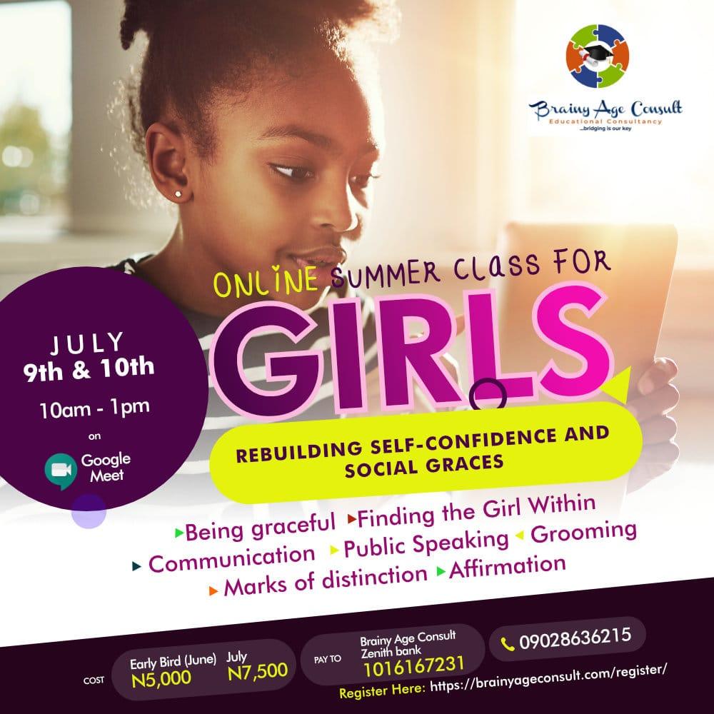 Online Summer class for Girls