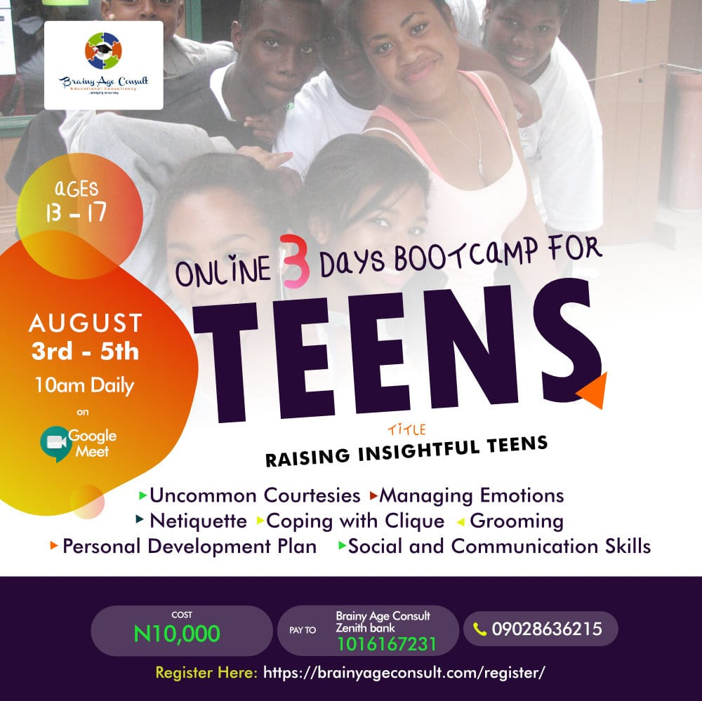 Online 3 Days Bootcamp for Teens